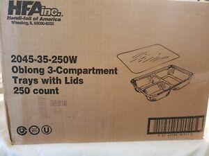 Handi-foil Oblong Aluminum Storage Container W/ Foil Board Lid 200 Count