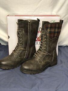 Rieker Fried 20 Women's Boots, Grey color, Size 9.5