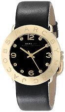 Marc Jacobs MBM1154 Amy Black Dial Black Leather Strap Women's Watch