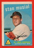 1959 Topps #150 Stan Musial VG-VGEX Hall of Fame St. Louis Cardinals FREE SHIP