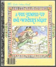 Children's Little Golden Book ~ A FOX JUMPED UP ONE WINTER'S NIGHT