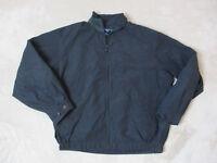 VINTAGE Nautica Sailing Jacket Adult Extra Large Navy Blue Green Coat Mens 90s