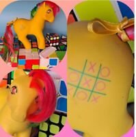 TIC TAC TOE - 1986 VINTAGE TWINKLE EYE Pony - G1 My Little Pony 80s Tictactoe