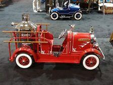 "Superb 64"" Museum Quality Art Deco 1930 American National Fire Pumper Pedal Car"