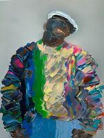 Original Abstract Portrait Notorious BIG Biggie Smalls Hip Hop Wall Art Painting