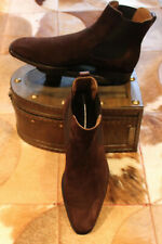 Berluti Brown Suede Leather Chelsea Boots - UK 7
