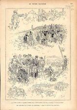 Grand Prix de Paris Coulisse Hippodrome Longchamp Courses hippiques GRAVURE 1876