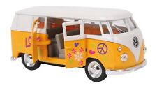VW Camper Van Model Volkswagen Surfer Yellow Hippy Bus 1962 1:34 Collector Boxed