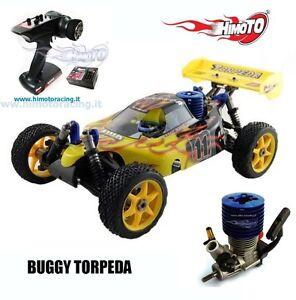 TORPEDA PRO BUGGY 1:8 MOTORE SCOPPIO SH.21 3,5cc RADIO 2.4GHZ 4WD NITRO HIMOTO