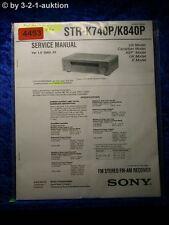 Sony Service Manual STR K740P /K840P FM/AM Receiver (#4453)