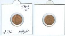 BDL  1 Pfennig 1949 F  prägefrisch bis stempelglanz