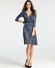 Brand New Ann Taylor Animal Print Side Twist Dress Size S Color Blue