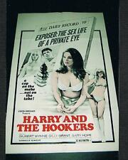 1973 HARRY AND THE HOOKERS movie poster Gilbert Wynne Gary Hope Gilly Grant sex