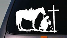 Christian Praying Cowboy Rodeo Car Truck Window Wall Laptop Vinyl Decal Sticker