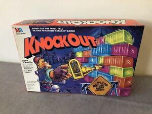Vintage 1991 Milton Bradley Board Game Knockout 100% Complete Working Hammer
