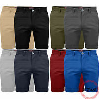 Mens Pack Of 2 Chino Shorts Cotton Half Pant Casual Summer Cargo Combat Jeans