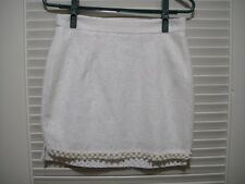 Korean Fashion White Lace Pearl Mini Skirt Size XXS XS S Japanese