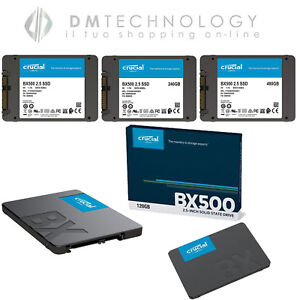 "SSD INTERNO CRUCIAL BX500 120GB/240GB/480GB 2,5"" STATO SOLIDO HARD DISK INTERNO"