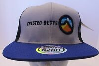 Crested Butte Hat Cap Colorado Trucker  USA Embroidery New