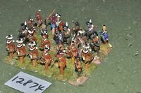 25mm AWI / french - indian wars warriors 24 figs - inf (12874)