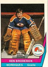 1977-78 O-Pee-Chee WHA #4 Ken Broderick Quebec Nordiques Hockey Card