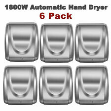 6 Pcs Automatic 1800W SS Electric Hand Dryer Commercial and Household Use