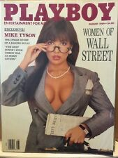 Playboy Magazine August 1989 Women of Wall Street Brandi Brandt Mike Tyson