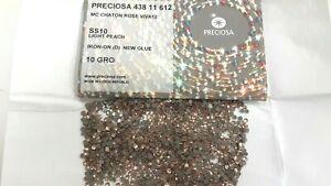 sealed package,1440 preciosa iron-on viva-12 flatbacks,10ss light peach
