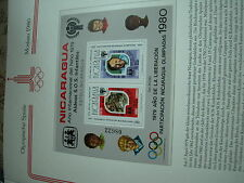 Olimpiadi 1980 OLYMPIA nikaragua Nicaragua LUSSO-Block Mosca bambini impresso