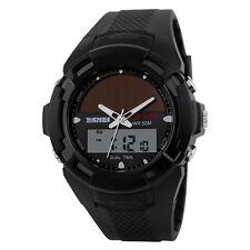 MEN S-SHOCK Solar Panels Military Wristwatch Quartz Analog Digital Watch