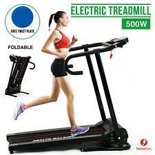 Fitnessclub Folding Electric Motorised Treadmill Running Machine Cardio Jogging