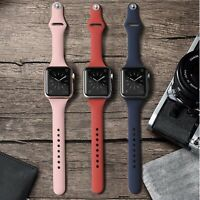 Soft Silicone Narrow / Slim Sport Band for Apple Watch Series 6, 5, 4, 3, 2, 1