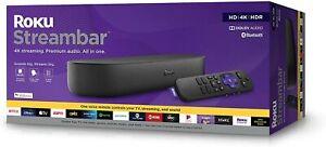 Roku Streambar 4K/HD/HDR Streaming Media Player & Premium Audio, All In One, Inc