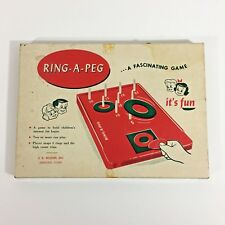 Vintage Ring a Peg Game 1950s By JR Sexton Inc Toy Complete in Original Box
