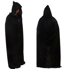 Schwarz Kapuzenumhang Halloween Kostüme Kostüm Erwachsene Tod Reaper Dämon