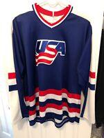 Vintage Team USA Hockey CCM Jersey Size Large