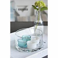 Handmade Classy Clear Glass Bowl Fruit Salad Trifles Tealight