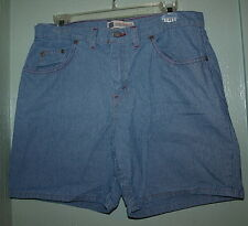 Faded Glory Jeans Shorts Pin Stripe 5 Pocket Size 10