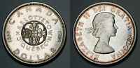 """Canadian Silver Dollar """"Confederation Conferences"""" 1964 coin KM# 58 (HH14)"""