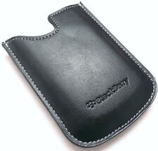 GENUINE BLACKBERRY CURVE 8520 8900 9300 BLACK LEATHER POCKET POUCH CASE COVER