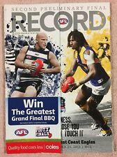 GEELONG V WEST COAST AFL 2011 2ND PRELIMINARY FINAL RECORD CATS V EAGLE MCG
