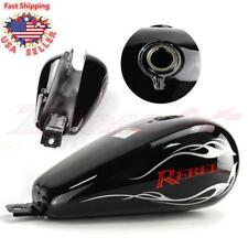 Motorcycle 3.4 Gallons Fuel Gas Tank For Honda CMX250 CA250 Rebel 1985-14 Black