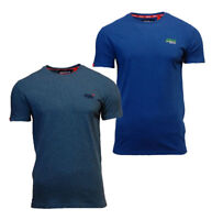 Superdry Mens New Orange Label Crew Neck Short Sleeve T Shirt Blue Teal