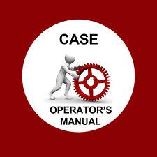 Case 580 Super E Loader Backhoe Operators Manual Operator's Users Manual
