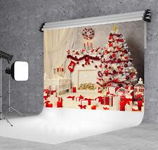 7X5FT  Xmas Indoor Tree Vinyl Photography Backdrop Background Studio Props WXL20