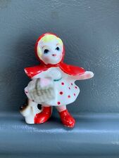 Miniature Little Red Riding Hood 2� Nursery Rhyme Bone China Figurine