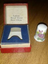 Lefton Royal Dover Bone China Thimble in Box, Vintage