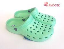 CIABATTE ZOCCOLI SABOT GYMMY DONNA Verde gomma n.35-39 sandali fori mare casa
