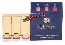 Estee Lauder Travel Exclusive 3 Pure Color Lipstick 20,28,24 Crystal Lip Jewels