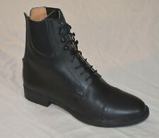 Womens Paddock Riding Boots Black size 8.5 Lace front Leather